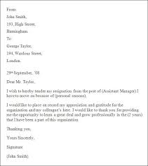 letters of resignation example amitdhull co