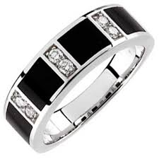 onyx wedding band 14kt white gold charming black onyx and diamond men s wedding band