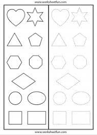 shape recognition worksheet scissor cutting skills shapes triangle pentagon
