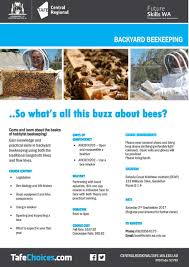 backyard beekeeping course nacc northern agricultural