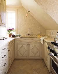 Small Kitchen Cabinet by Modern Small Kitchen With Beige Tiles Wooden Kitchen Cabinet