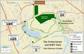 Dallas Area Map Trinity Forest Trails
