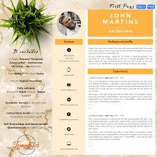 template cv word modern creative and professional resume template john martins