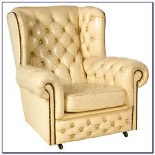white tufted wingback chair chairs home decorating ideas