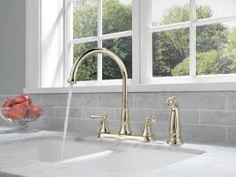 delta brushed nickel kitchen faucet delta 2497lf ar arctic stainless cassidy kitchen faucet with side