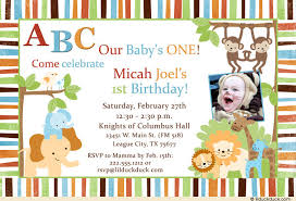 abcs boy birthday invitation colorful stripes 1st party