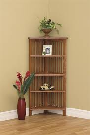 Walnut Corner Bookcase Corner Shelves Furniture Walnut White 5 Tier Corner Shelf Bookcase