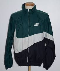 nike windbreaker vintage nike big swoosh green black white windbreaker jacket mens