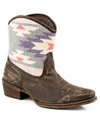 roper womens boots sale roper s blanket shaft shorty snip toe boots brown