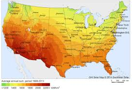 Boston Map Usa by U S Solar Insolation Map Calculate Average Solar Power In All Us