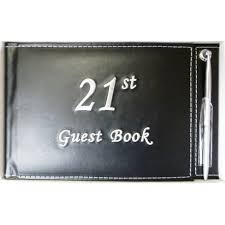 black guest book black 21st signature guestbook dej s party shop