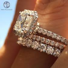 2 wedding bands this 1 50ct radiant cut diamond engagement ring looks fantastic