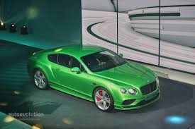 green bentley world debut for 2015 bentley continental gt at the geneva motor