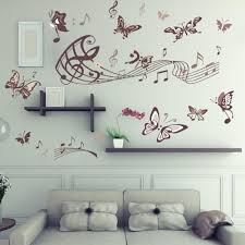 removable wall decals music color the walls of your house removable wall decals music butterfly music wall sticker removable vinyl wall decal living room