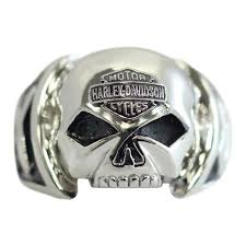 steel skull rings images Convex harley davidson skull ring stainless steel jpg