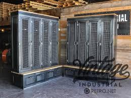hand crafted vintage industrial locker bookcase mudroom entryway
