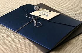 navy wedding invitations navy blue and gray swirl pocketfold wedding invitation suite
