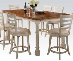 Wilton Pc Antique White Counter Height Dining Set With Swivel - Counter height dining table swivel chairs