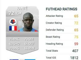 How To Make Your Own Ultimate Team Card - chelsea star n u0027golo kante in line for huge player rating rise on