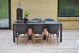 infrared heaters outdoor patio outdoor table heating safe to touch patio heater danish design