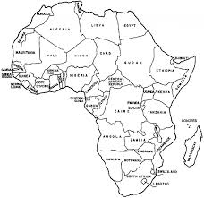 africa map labeled countries free africa map coloring pages africa page printables africa