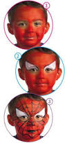 craft spiderman face painting instructions hellokids