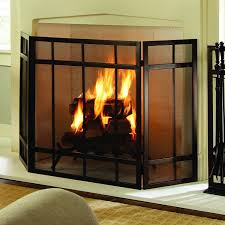 amazon com pleasant hearth mission style 3 panel fireplace screen