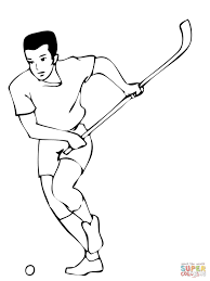 Floor Hockey Pictures by Field Hockey Player Coloring Page Free Printable Coloring Pages