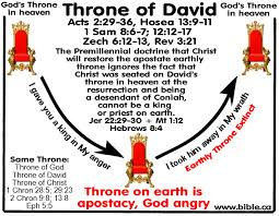premillennial theology refuted christ is on throne of david now