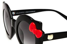 hanoi weekend kitty gloss black u0026 red bow grey