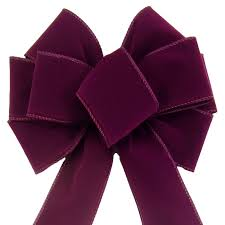 velvet bows bows wired plum purple velvet bow 8 inch