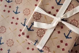 anchor wrapping paper anchors away wrapping paper gift wrap 3 sheets toodles