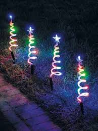Spiral Light Christmas Tree Outdoor by Multi Colour Set Of 4 Led Spiral Christmas Tree Path Lights