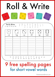 learn to spell short vowel words with these fun printables