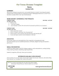 Currently Working Resume Sample by Teenage Resume Examples