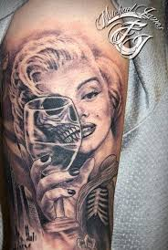 marilyn monroe tattoo portrait imgur