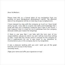 sample resignation letter format 9 download free documents in
