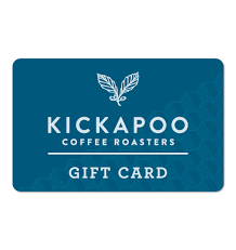 on line gift cards online gift card kickapoo coffee