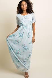 chiffon maxi dress blue floral chiffon maternity maxi dress