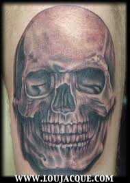for unique lou jacque tattoos black n grey skull