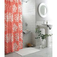 threshold shower curtain coral for windows in baby u0027s room