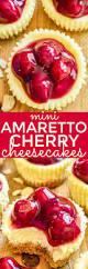 mini amaretto cherry cheesecakes lemon tree dwelling