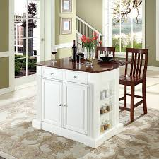 crosley furniture kitchen island shop crosley furniture white craftsman kitchen island with 2 stools