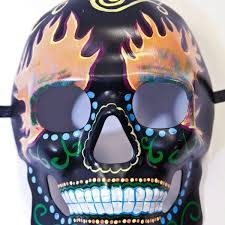 Day Of The Dead Masks Hand Painted Day Of The Dead Mask Ghost Rider Vampfangs