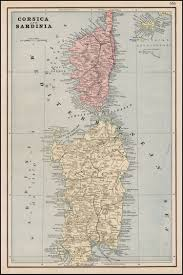 Corsica Map Corsica And Sardinia Barry Lawrence Ruderman Antique Maps Inc