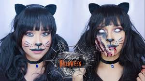 easy halloween makeup 2016 glam cat u0026 scratched cat dian