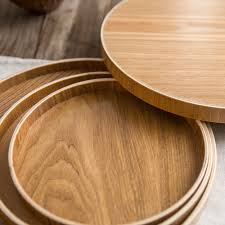 compare prices on round wood tray online shopping buy low price