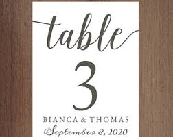 table number cards quinceanera table cards reception table