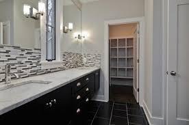 Ceramic Backsplash Tiles Bathroom With White Cabinets And Ceramic Backsplash Tiles