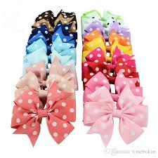 3 inch grosgrain ribbon baby girl hiar 3 inch grosgrain ribbon polka spots bows with